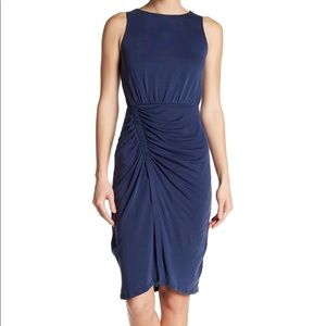 NWT Nordstrom Superfoxx Faux Wrap Ruched Dress XS